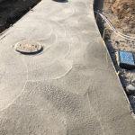 阿見町 新築住宅施工中!アプローチ下地コンクリート打設工事です。